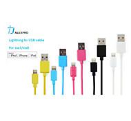 mfi foudre certifié synchronisation de données et le chargeur cable usb 8 broches pour iPhone6 6plus 5 5c 5s ipad assortis couleurs