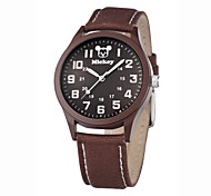 Men's Assorted Colors High Quality Alloy dial Genuine Leather band Water resistant Japan Quartz Movement wristwatches
