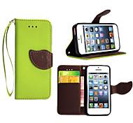 support de haute qualité de carte de portefeuille cas PU cuir flip pour iPhone 5 / 5s (couleurs assorties)