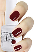 LIBEINE 1pc Soak Off 15 ML UV Gel Nail Polish Color Gel Polish 072# Rich Ruby Shade
