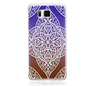 Gradual Change Lace Flowers  Pattern TPU Soft Back Cover Case  for Samsung Galaxy Alpha G850 /G850F