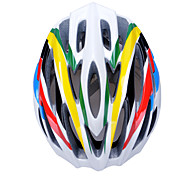 Fashion Comfortable+Safety and High-Breathability Bicycle Helmet (30 Vents) - Yellow + Green + Black + Red