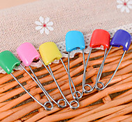 Set of 6 Candy Colors Safety Hold Locking Baby Dress Cloth Pins Kit (Random Color)