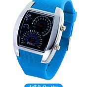 mode led instrumentenpaneel plastic horloge (blauw) (1 st)