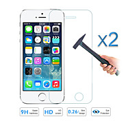 2PCS Quality Tempered Glass Film Screen Protector for Apple iPhone 5 5S