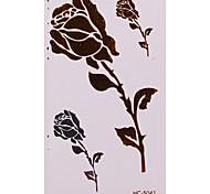 Tatuaggi adesivi - Serie fiori Bambino/Da donna/Girl/Da uomo/Adulto/Boy/Teen - 1 - Modello - di Carta - 6*5 - Oro -Non
