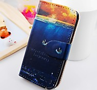 About Water Eruption Figure Wallet Stand PU Leather Case For Samsung Galaxy S2 SII I9100