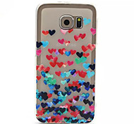 Love Pattern Embossed Painted Transparent Thin TPU Phone Case for Samsung Galaxy S6