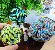 Cat / Dog Toy Pet Toys Ball Woven Cotton Random Color