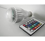 1 stuks E26/E27 3 W 1 Krachtige LED 180 LM RGB Op afstand bedienbaar Slimme LED-lampen AC 85-265 V