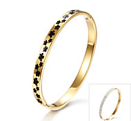 Classical Pattern Diamond Bangle