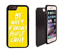 Be happy Design 2 in 1 Hybrid Armor Full-Body Dual Layer Shock-Protector Slim Case for iPhone 6 Plus