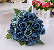 Magic Blue Rose Flowers Wedding Bouquet for Home Decoration