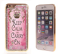 Carry ON Design Luxury Hybrid Bling Glitter Sparkle With Crystal Rhinestone Case for iPhone 6