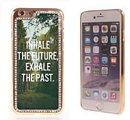 el brillo brillo híbrido de lujo bling del diseño del árbol con la caja de diamantes de imitación de cristal para el iphone 6
