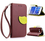 Leaf Shape TPU Case with Holder and Card Holder for Samsung G357