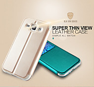 KALAIDENG Sun Series Super Thin View Leather Case for Galaxy J1
