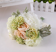 Light Green Rose Flowers Wedding Bouquet for Home Decoration