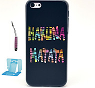 Color letters Pattern Plastic Hard Back Cover for iPhone 5c