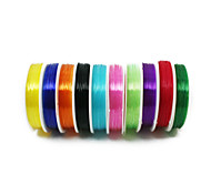 Beadia 0.5mm Elastic Stretch Beading Crystal Cord Necklace Bracelet DIY Wire Thread Multi Color 10 Rolls (apx 12m/roll)