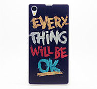 OK Pattern Plastic Hard Back Case Cover for Sony Z1