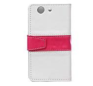 duas cores em um couro protetora pu magnético vertical flip caso para Sony Xperia mini-z4 (cores sortidas)