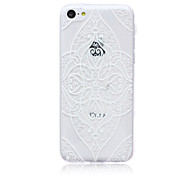 Magic Spider®White Rhombus Pattern Protective Soft Back Case Cover with Screen Protector for iPhone 5C