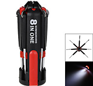 8-in-1 Multi Screwdriver Tools Portable Set With 6 LED Flashlight Torch Home