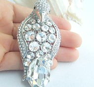 Women Accessories Silver-tone Clear Rhinestone Crystal Brooch Art Deco Penguin Brooch Scarf Pin Women Jewelry
