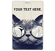 Personalized USB Flash Drive Lecherous Cat Design  64GB Card USB Flash Drive