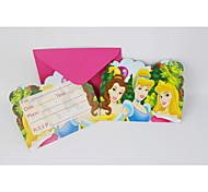 cartões de convite princesa 12pcs / lot