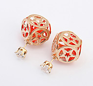 European Style Fashion Shining Square Hollow Star Pattern Earrings