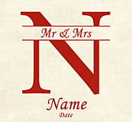 Personalized Product Labels /  Address Labels  Initial Square Pattern of Film Paper (Set of 48pcs)