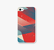 Article Oblique Pattern PC Phone Case Back Cover for iPhone4/4S Case