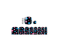 16PCS Mix Sizes Other False Toe Nail Art Stickers Decal for Foot Toes Nail Art Decorations F1011