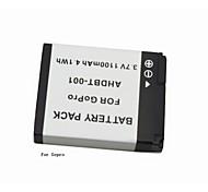 batteria AHDBT-001 per GoPro Hero 2 1, 1100mah
