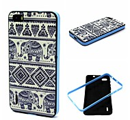 2-in-1 Bumblebee Elephant Carpet Pattern TPU Back Cover with PC Bumper Shockproof Soft Case for Huawei Honor 6