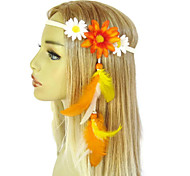 Daisy Headband Edc Festival Daisies Feather Extension Yellow White Orange Summer Fashion Women Hair Accessories