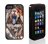 Lion Protect What is Yours Design 2 in 1 Hybrid Armor Full-Body Dual Layer Shock-Protector Slim Case for iPhone 5/5S