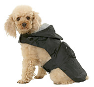 Собаки Дождевик Красный Синий Черный Одежда для собак Лето Весна/осень Однотонный Водонепроницаемый