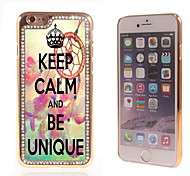 Keep Calm and Be Unique Design Luxury Hybrid Bling Glitter Sparkle With Crystal Rhinestone Case for iPhone 6
