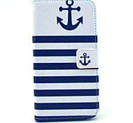 Blue and white striped pattern 360 Degree Rotation PU Material Full Body Case for Samsung Galaxy S6
