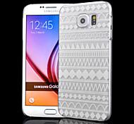 transparentes relevo ofícios impressão listra pc matagal caixa do telefone de material oco para Samsung Galaxy S6