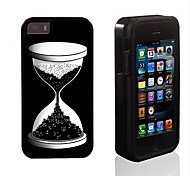 Night Design Sand Glass Pattern 2 in 1 Hybrid Armor Full-Body Dual Layer Shock-Protector Slim Case for iPhone 5/5S