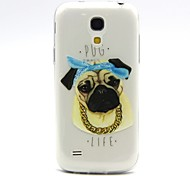 For Samsung Galaxy Case Transparent / Embossed Case Back Cover Case Dog TPU Samsung S4 Mini