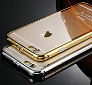 KX Brand Golden Version Metal Frame Acrylic Transparent Backplane Metal Hard Case for iPhone 6 Plus(Assorted Colors)