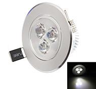 LED a incasso 3 LED ad alta intesità 270-330lm lm Bianco caldo / Bianco Decorativo AC 85-265 V 1 pezzo