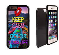 Colorful Your Life Design 2 in 1 Hybrid Armor Full-Body Dual Layer Shock-Protector Slim Case for iPhone 6 plus