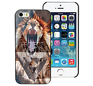 Lion Protect What is Yours Design Aluminum Hard Case for iPhone 5C