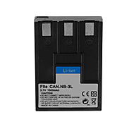 1500mAh Camera Battery Pack for CANON NB-3L